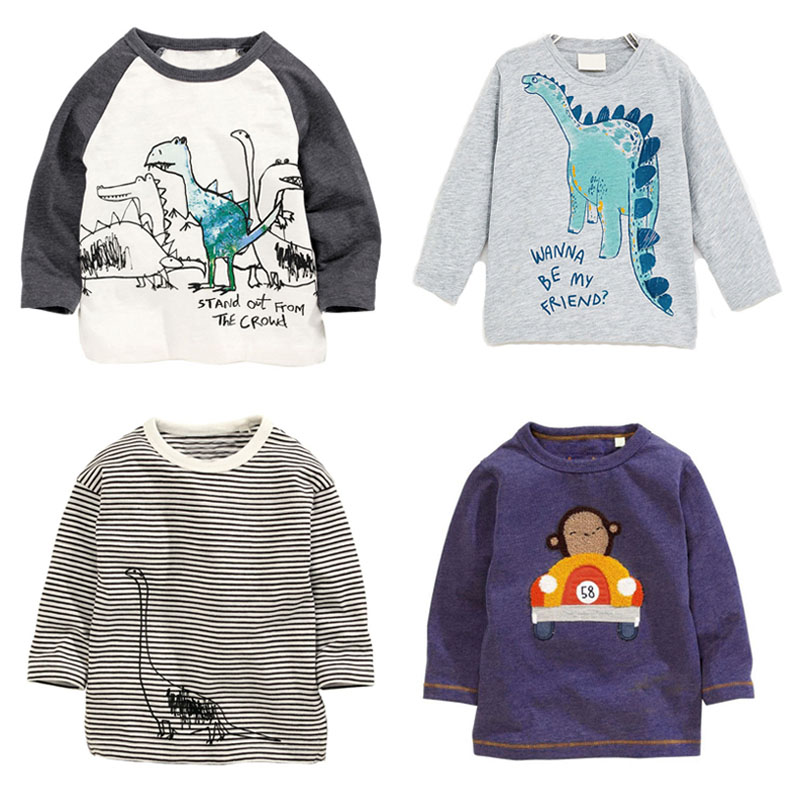 New 2018 Brand Quality 100% Cotton Baby Boys t shirts Children Clothing Long Sleeve Bebe Boys Clothes t-Shirt Kids Underwear Boy cotton baby boy clothes spring baby clothing sets roupas bebe long sleeve children clothing fashion kids clothes t shirt pants
