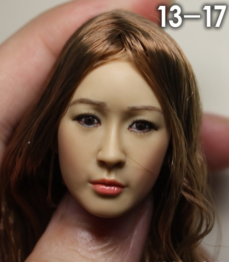 купить 13-17 1/6 scale female head shape for 12