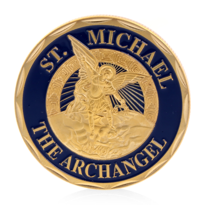 Saint Michael The Archangel Silver Plated Non-currency Coins Commemorative Challenge Coin Collection