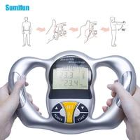 Wireless Portable Digital LCD Screen Handheld BMI Tester Body Fat Monitors Health Care Analyzer Fat Meter