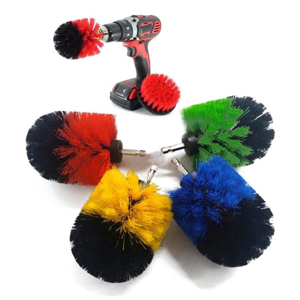 Vluchten Zoeken 3 Stks/set Elektrische Boor Borstel Plastic Ronde Borstel Voor Tapijt Glas Auto Banden Nylon Borstels Power Scrubber Boor Kits Aantrekkelijke Ontwerpen;
