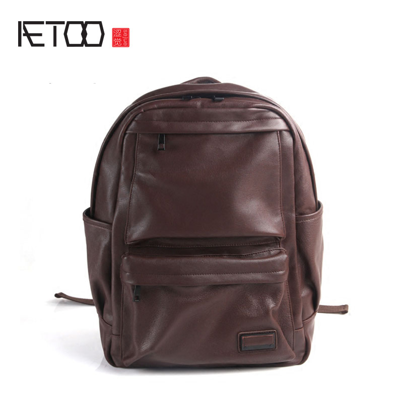 AETOO Pure leather Europe and the United States tide section fashion leisure retro bag leather bag backpack leather aetoo pure leather europe and the united states japan and south korea fashion retro bag leather leather casual daily travel back