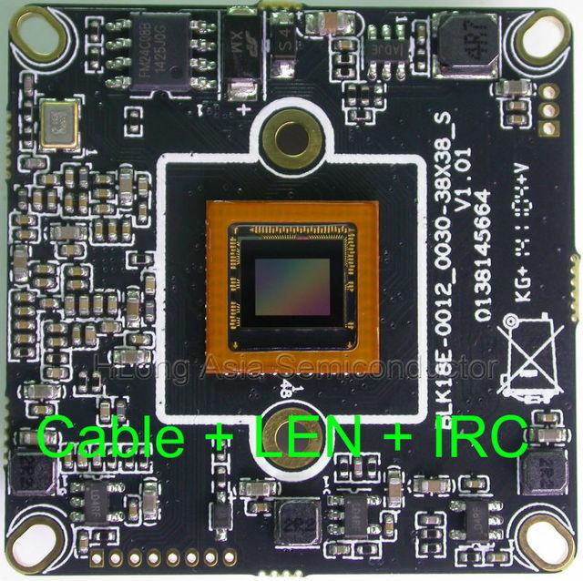 "IPC (720P/960P) 1/3"" Aptina AR0130 image sensor + Hi3518E CCTV IP camera module board with LAN cable + 2.0MP LEN + IRC."