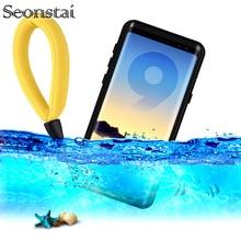สำหรับ Galaxy Note 9กรณีกันน้ำ IP68การป้องกันใต้น้ำว่ายน้ำดำน้ำสำหรับ Samsung S8 S9 Plus หมายเหตุ8 touch ID