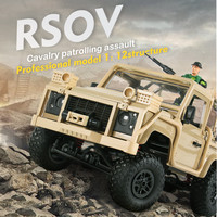 MN 96 RSOV 1/12 2.4G 4WD Crawler RC Car Cavalry Jeep Vehicle With LED Light RTR