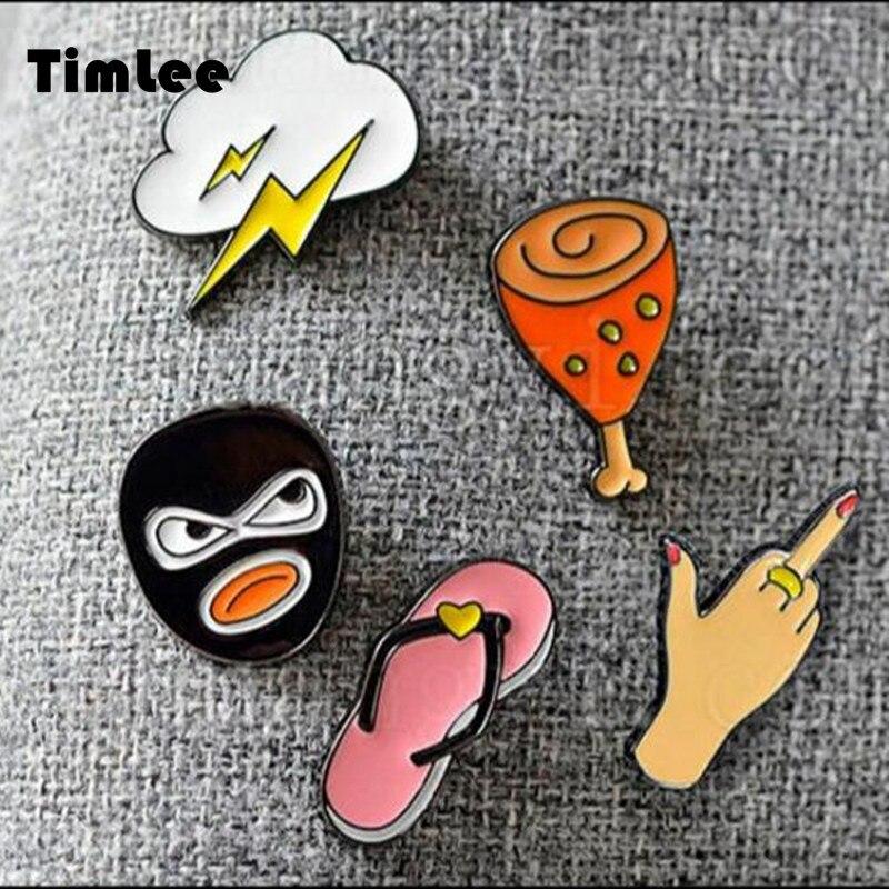 Милые тапочки Timlee X065, бесплатная доставка, брошка с молниеносными ножками в виде цыплят, модные украшения, оптовая продажа|Броши|   | АлиЭкспресс - Аксессуары до 300 руб