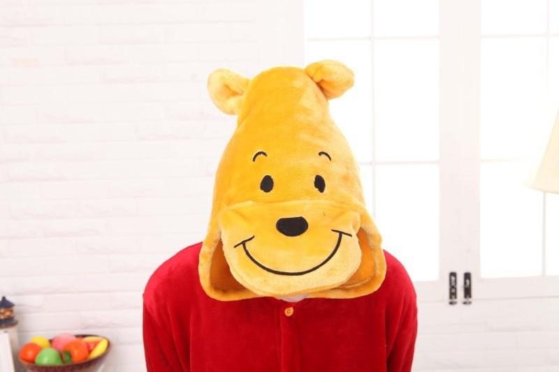 Anifeiliaid Nadolig Winnie Bear Onesies Pajamas Gwisg Cartŵn Cosplay Sleepwear Oedolion Pajamas Parti Calan Gaeaf Pijamas