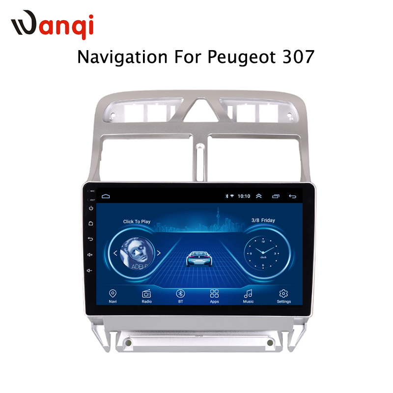 Android 8.1 2.5D Tempered HD Touchscreen 9 inch Radio for peugeot 307 Radio 2004-2013 with Bluetooth USB WIFI support SWCAndroid 8.1 2.5D Tempered HD Touchscreen 9 inch Radio for peugeot 307 Radio 2004-2013 with Bluetooth USB WIFI support SWC