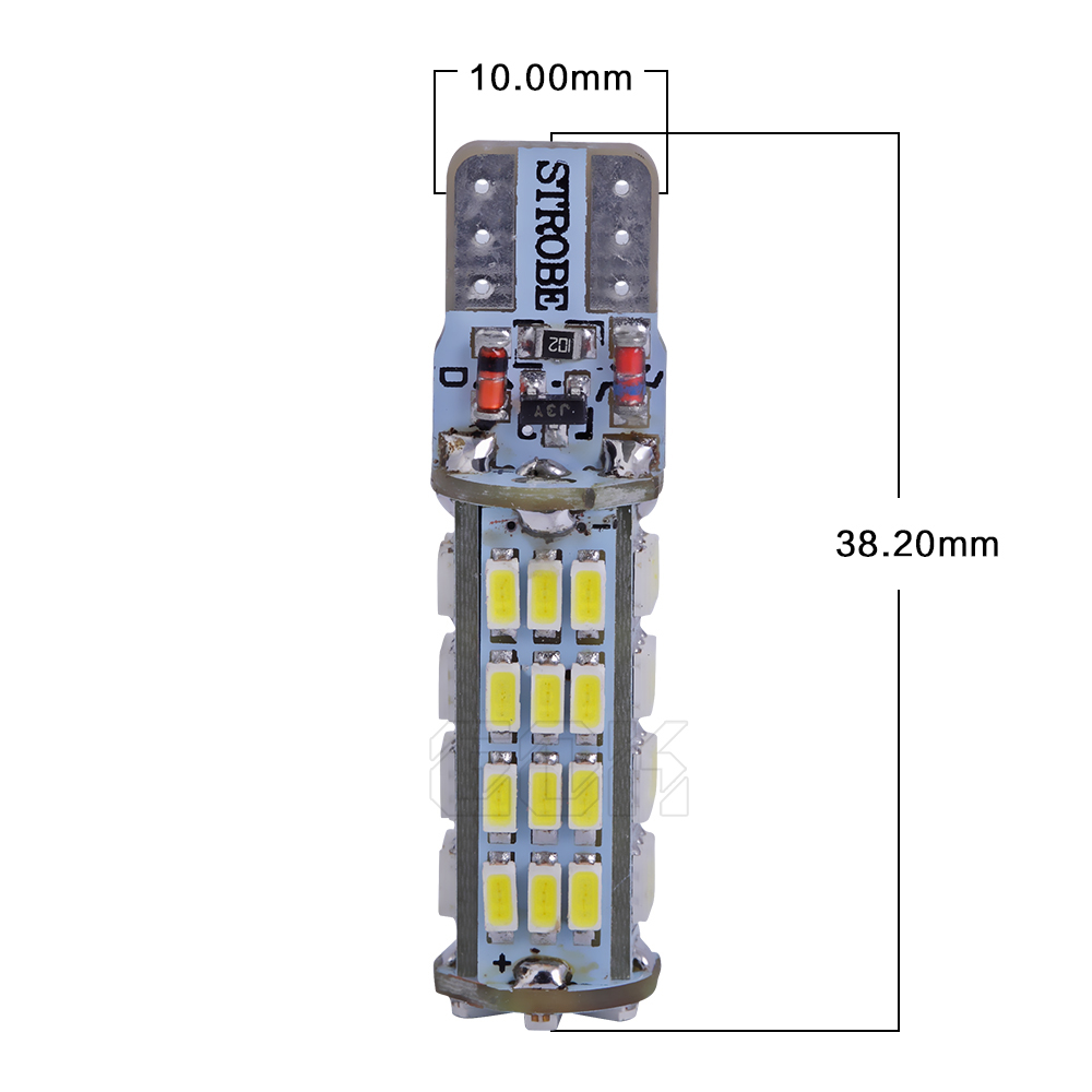 10 X T10 Led Flash W5w T10 54led 3014 Smd Car Light With Two Modes Of Operation T10 Smd Car Strobe Light White Automobiles & Motorcycles