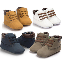 Baby Kids Toddler Infant Lace Up Sneaker Shoes Soft Sole Anti-Slip Crib Shoes