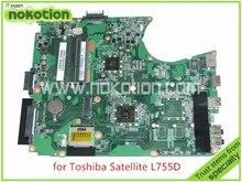 Mainboard A000080830 DA0BLEMB6E0 REV E For toshiba satellite L750D L755 L755D laptop motherboard AMD E350 DDR3