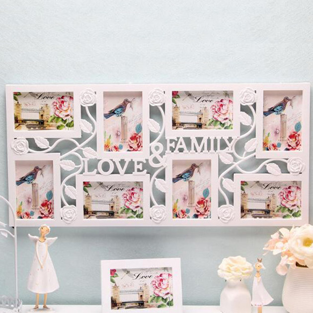 photo frame family love large multi 8 picture wall hanging collage baby shower wedding birthday gift