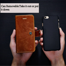 Removable Wallet Leather Cover Phone Case For iPhone 6 6S 7 Plus 5S SE Multi function