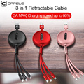 Cafele 3 in 1 Retractable Micro USB Type C Charging Cable for iPhone X XS Max USB Data Sync Cable for Huawei P20 Xiaomi Samsung
