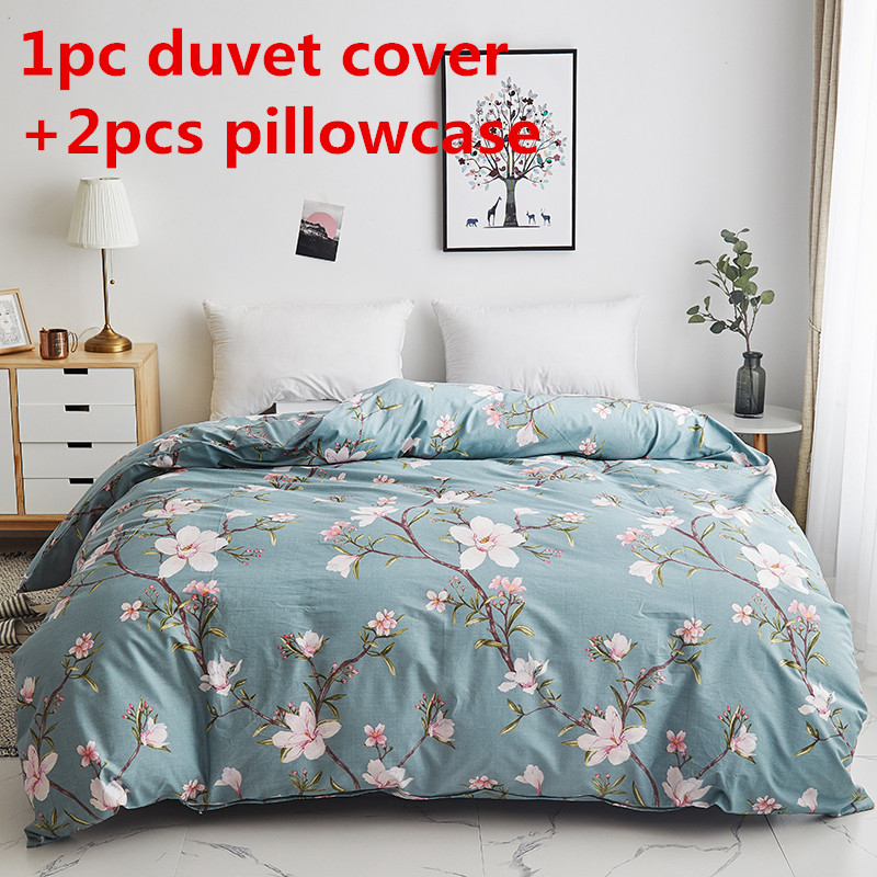 Peach Blossom Duvet Cover Sets Pure Cotton Quilt Cover Twin Single Double Queen King Bedding Set 2pc Pillowcase Comforter Cover