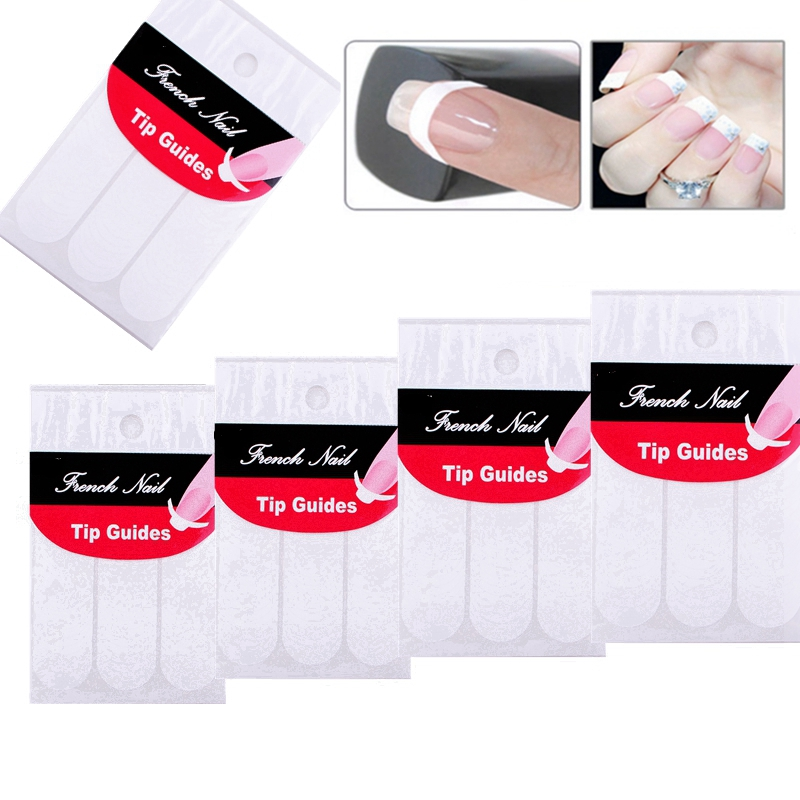 Elite99 Nails Sticker Tips Guide French Manicure Nail Art Decals ...