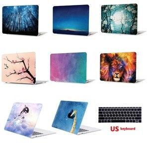 Пластиковый чехол для ноутбука жесткий чехол + чехол для клавиатуры для Apple Macbook Air Pro Retina Touch Bar 11 12 13 15 дюймов-SG