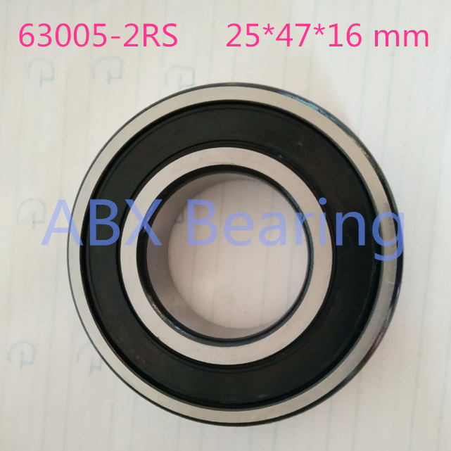 Excavator bearing 63005 2RS 63005-2RS 25*47*16mm 25X47X16mm Double Shielded Deep Ball Bearings Large breadth 10pcs 688zz double shielded ball bearings 8x16x5mm metal miniature ball bearing for harware accessories