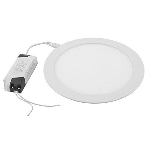 18W LED Round Recessed Ceiling Panel Down Light Ultra-slim Down Lamp for Dining Room Conference Room and Office(White) large illumination area ul panel light 4 x1 1200x300mm hanging recessed wall surface mounting no gare soft flat light