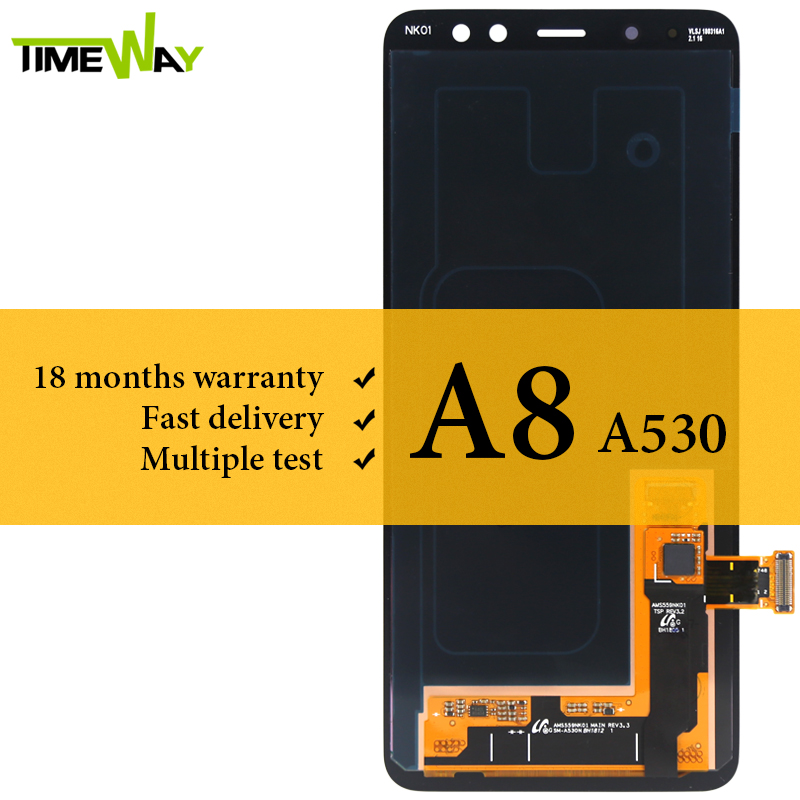 AMOLED Screen For SAMSUNG GALAXY A8 2018 LCD A530 Display