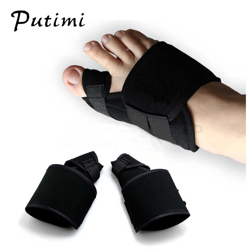 Putimi 2pcs Soft Bunion Corrector Hallux Valgus Orthopedics Thumb Toe Separator Splint Toe Corrector Pedicure Foot Care Tools