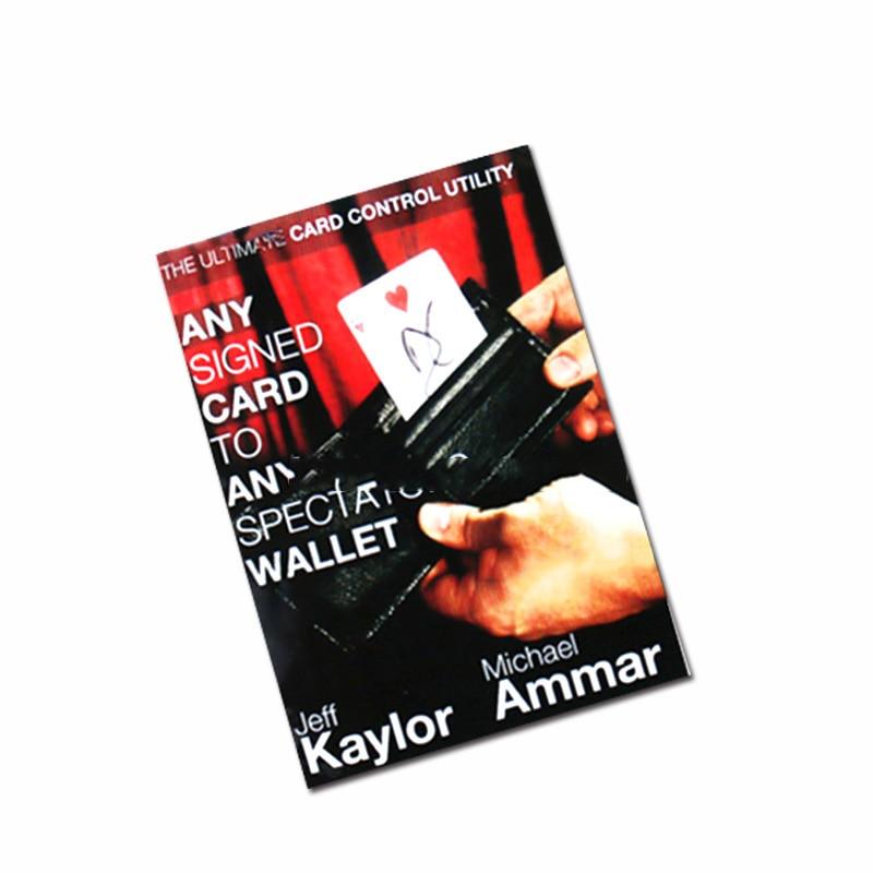 किसी भी दर्शक के वॉलेट (निर्देश और नौटंकी) सड़क पर कोई भी कार्ड जादू के जादू की चाल को बंद कर देता है