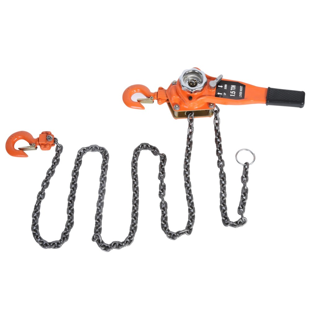 1 Set Alloy Steel 1 5Ton 10ft Lever Chain Hoist Ratchet Puller Lifting Equipment With Galvanized