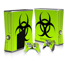 Vincy Da Miếng Dán Bảo Vệ Cho Microsoft Xbox 360 Mỏng Và 2 Bộ Điều Khiển Da Dán XBOX360 Slim