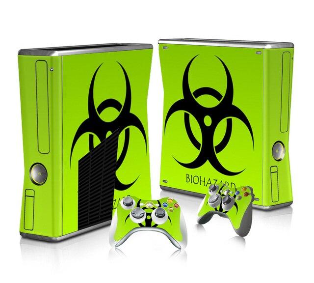 Vinyl Haut Aufkleber Protector für Microsoft Xbox 360 Slim und 2 Controller Skins Aufkleber für XBOX360 DÜNNE
