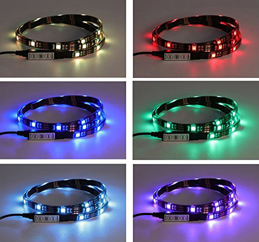 TV Backlight RGB LED Strip 5050 Waterproof 5V USB LED Tape String Bias lighting For HDTV Screen Desktop PC LCD Monitor Decoration (9)