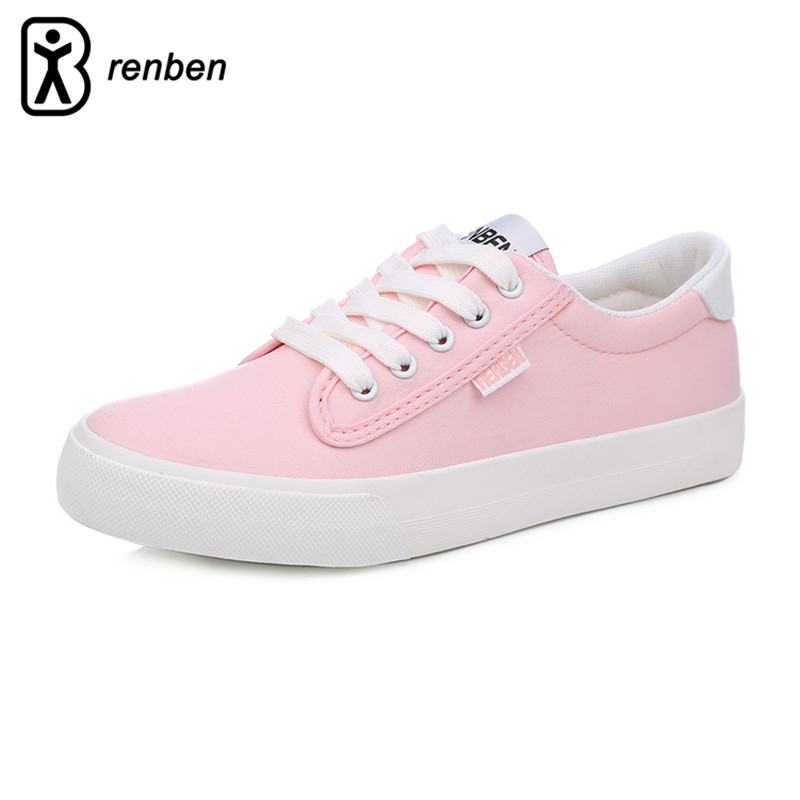RenBen 2017 Flats Casual Women Shoes Fashion Canvas Loafers Female Shoes Woman Breathable Durable Rubber Shoes Zapatos mujer vintage embroidery women flats chinese floral canvas embroidered shoes national old beijing cloth single dance soft flats