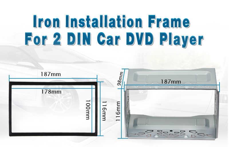 カボチャインストールユニバーサル筋膜フレームのための 2 Din Android のカーラジオ Dvd プレーヤーフォルクスワーゲン/ゴルフ/ポロ/ ジェッタ日産