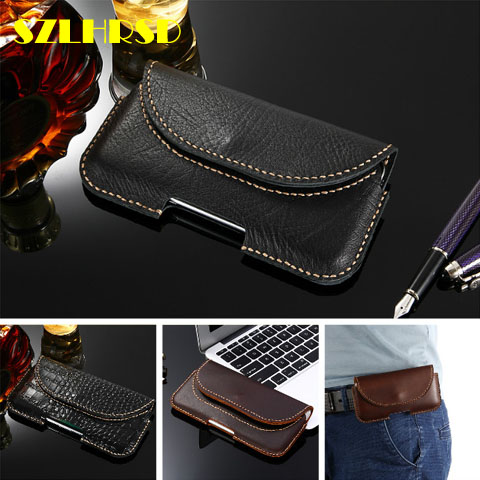 For Cubot X19 Cover Genuine Leather Holster Belt Cell Phone Cases With Clips Leagoo S11 High Quality For Vivo Z3i/for Vivo Y91