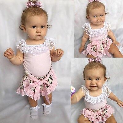 2016 fashion toddler children summer baby girls clothing sets lace 2pcs girls summer clothes set kids flower tracksuit set