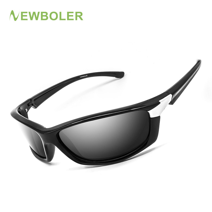 NEWBOLER Sunglasses Men Polarized Sport Fishing Sun Glasses For Men Gafas De Sol Hombre Driving Cycling Glasses Fishing Eyewear high quality iron wire frame sun glasses women retro vintage 51mm round sn2180 men women brand designer lunettes oculos de sol