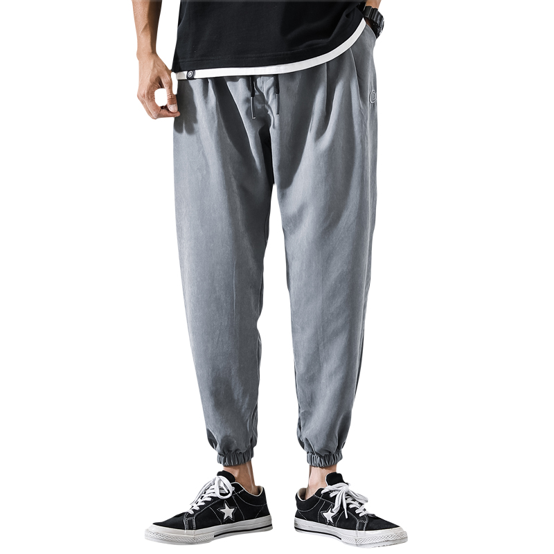 Trousers Male Harem-Pants Joggers Elastic-Waist Streetwear Baggy Mens Casual New Ankle-Length