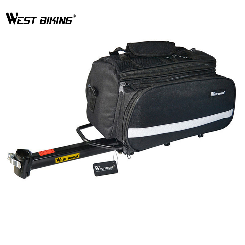 ФОТО WEST BIKING MTB Cycling Bags Rear Shelf Raincover Inner Bicycle High-strength Disc V-brake Bike Back Rack Cover Bicicleta Set