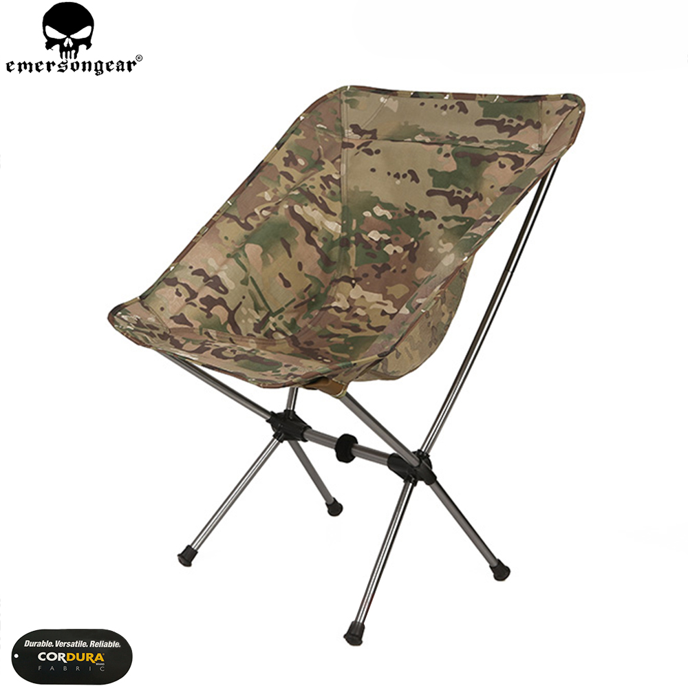 EMERSONGEAR Tactical Folding Chair Outdoor Ultra Light Portable Camouflage Beach Camping Sketch Tactical Folding Chair EM7076