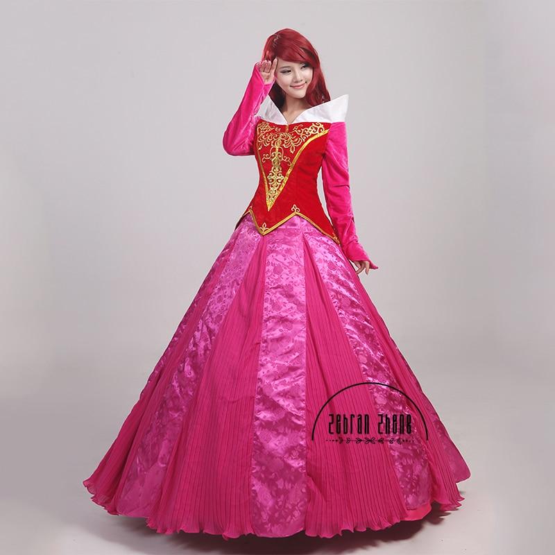 Nieuwe aankomst Doornroosje Prinses Aurora Cosplay Kostuum voor - Carnavalskostuums - Foto 3