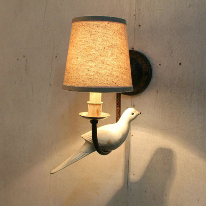 2015 american country vintage wall lights fixtures led e14 reading light headboard wrought iron bedroom wall - Wall Light Fixtures For Bedroom