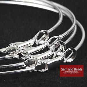 High quality 60pcs/lot Silver/Gold Lightweight (40mm) Basketball Wives Earrings Plain Color Hoop Earrings EH005