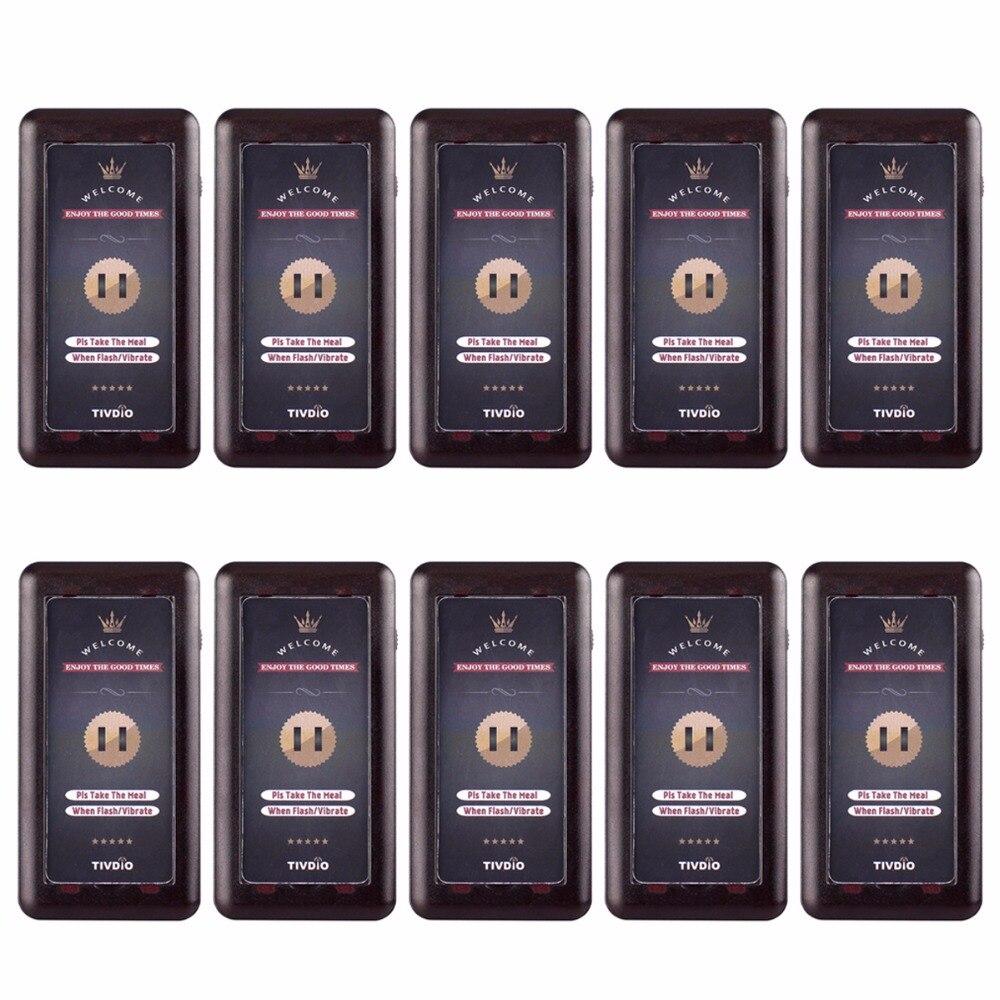 10 pièces D'hôtes Pager Récepteur Pour T115 Sans Fil Système de Pagination Électronique File D'attente D'appel Service Boutons Buzzer Quiz matériel de restauration