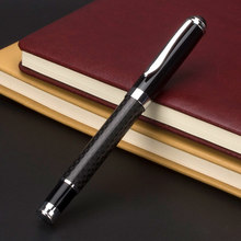 Nuovo nero in fibra di carbonio penna portapenne può essere personalizzato logo pubblicità del regalo del metallo penna Per Ufficio e Per la Scuola Penna A Sfera