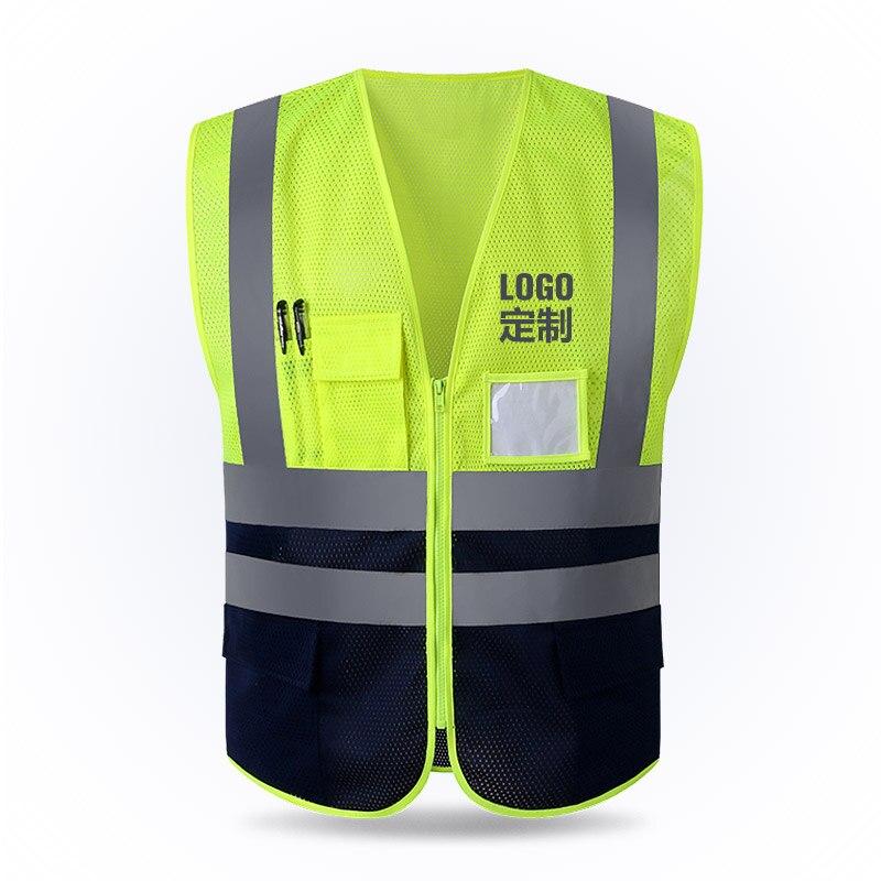 Reflecterende Vest Mesh Ademende Constructie Veiligheid Beschermende Kleding Road Verkeer Waarschuwing Fluorescerende Vest Haren Voorkomen Tegen Grijzing En Nuttig Om Teint Te Behouden