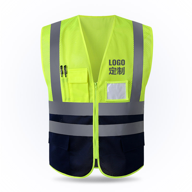 Reflective vest mesh breathable construction safety protective clothing road traffic war ...