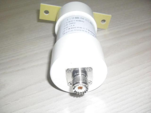 1:9 balun 200W o krótkiej fali Balun HAM długi przewód HF antena RTL-SDR 1-56MHz 50 ohm do 450 ohm NOX-150 magnetyczny