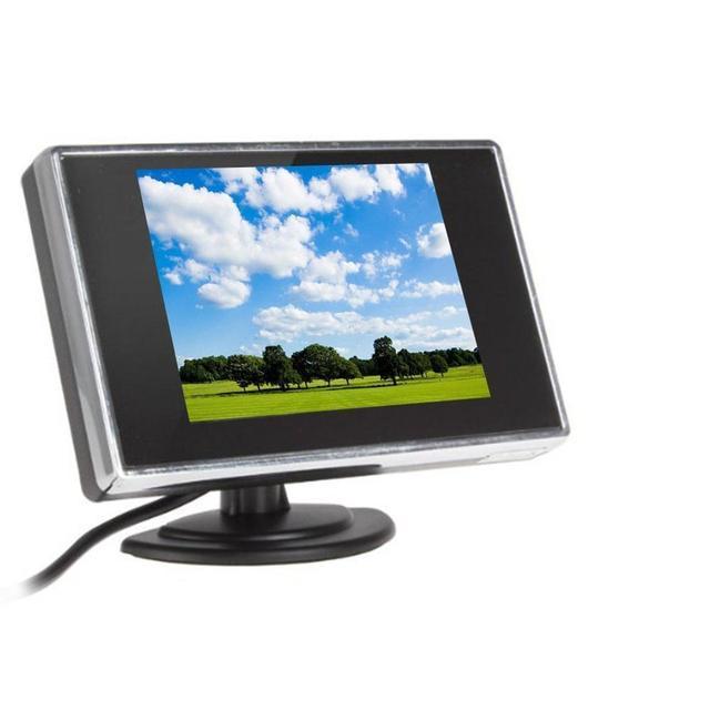 3.5 ''Telas de DVD Do Carro Monitor de Reverso 3.5 Polegada Display Digital Carro Da Tela De Estacionamento Espelho Retrovisor para a Câmera Do Carro