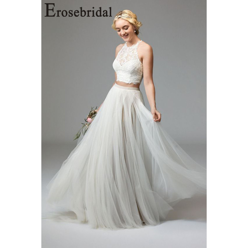 Erosebridal New Arrival 2019 Two Piece Wedding Dresses