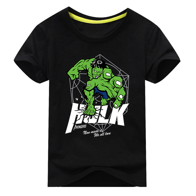 Cenicienta Baby Clothes for Boys T Shirt Cartoon Hulk Print Short Sleeve T-shirt for Baby Boys Casual and Holiday Free shipping stylish short sleeve round neck high low hem tower and letter print t shirt for women