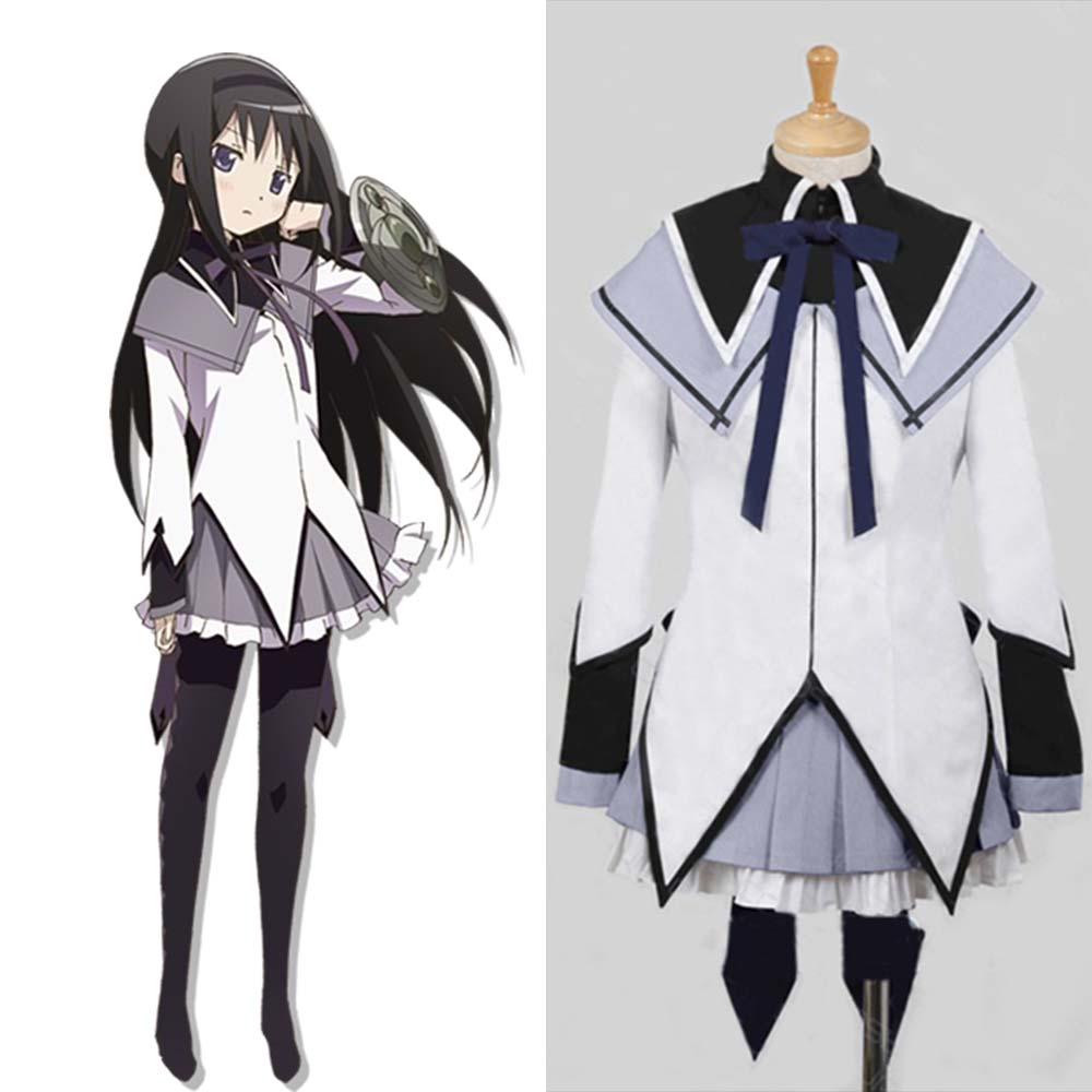 Puella Magi Madoka Magica Homura Akemi Cosplay Full Sets School Uniform Dress Halloween Carnival Party Cosplay
